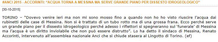 Le dichiarazioni di Accorinti a Torino