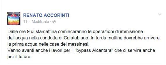 L'annuncio di Renato Accorinti