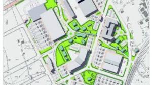 Il progetto su mappa del Centro commerciale di contrada Siena