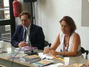 Aura Notarianni con il governatore Crocetta