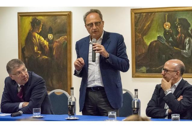 Da sx, Franco De Domenico, Antonio Saitta, Pietro Navarra