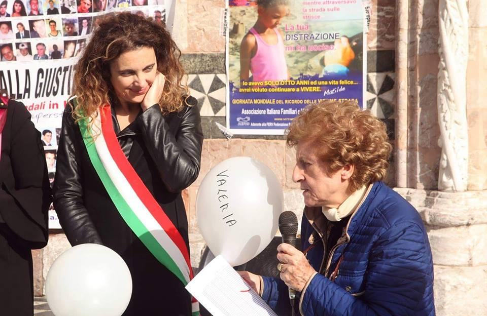 Pina Cassaniti con l'assessote Carlotta Previti il giorno del